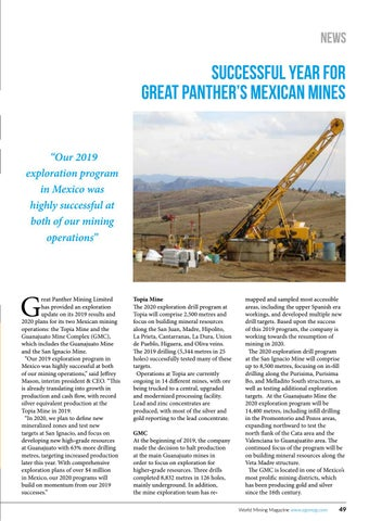 Page 49 of Successful year for Great Panther in Mexico