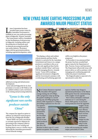 Page 51 of New Lynas rare earths processing plant awarded major project status