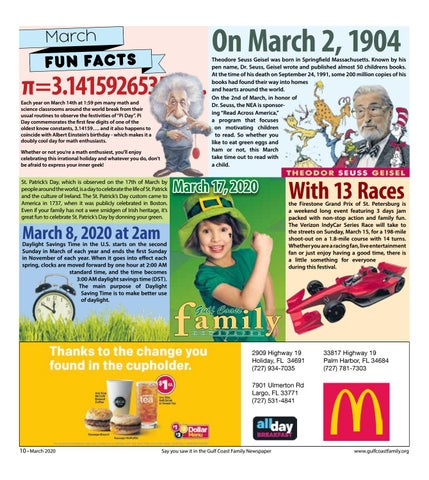 Page 10 of March Fun Facts