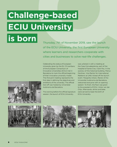 Page 8 of ECIU UNIVERSITY IS BORN