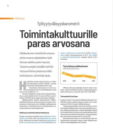 Page 14 of HÄTÄKESKUS Toimintakulttuurille paras arvosana