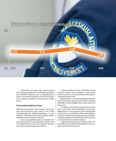 Page 15 of HÄTÄKESKUS Toimintakulttuurille paras arvosana