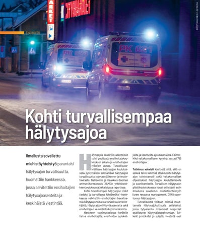 Page 18 of ENSIHOITO Kohti turvallisempaa hälytysajoa