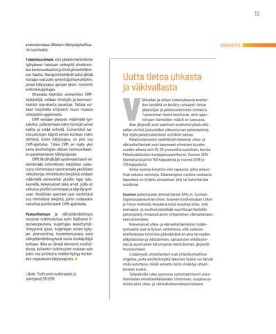 Page 19 of ENSIHOITO Uutta tietoa uhkasta ja väkivallasta