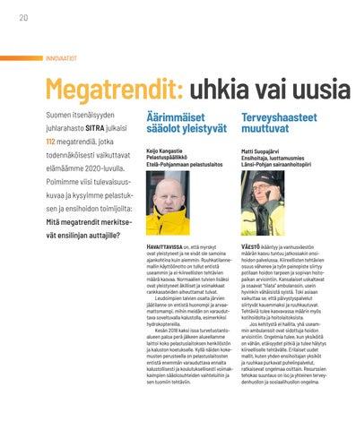 Page 20 of INNOVAATIOT Megatrendit: Uhkia vai uusi mahdollisuuksia?