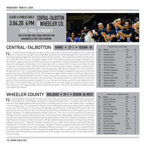 Page 10 of 2020 GHSA Basketball State Championships