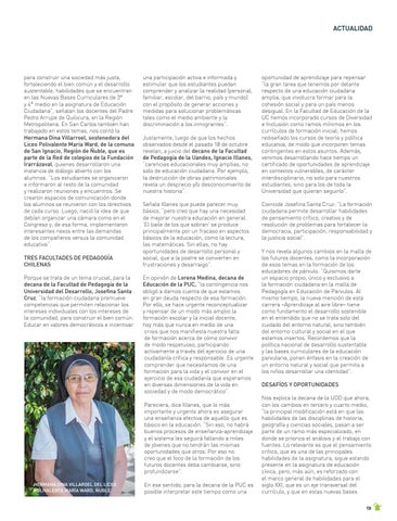 Page 19 of ACTUALIDAD Les preguntamos a los decanos de pedagogía cómo