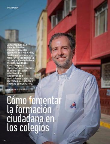 Page 22 of ORIENTACIÓN Nicolás Berthet, de Civis Chile, nos revela cómo