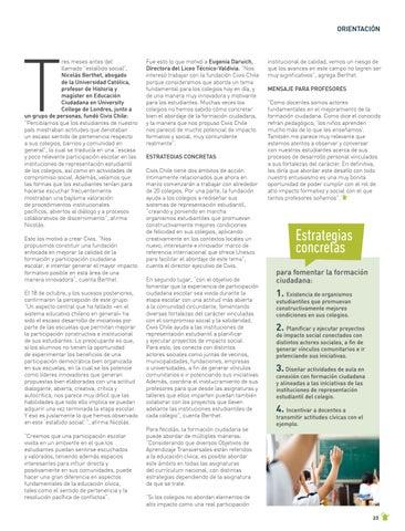 Page 23 of ORIENTACIÓN Nicolás Berthet, de Civis Chile, nos revela cómo