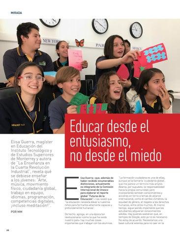 Page 24 of MIRADA La destacada profesora Elisa Guerra nos cuenta los