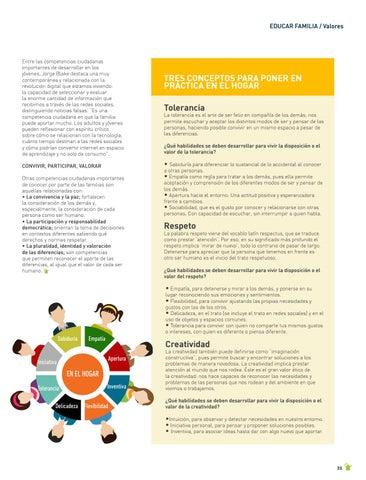 Page 35 of EDUCAR FAMILIA: VALORES La familia, escuela de