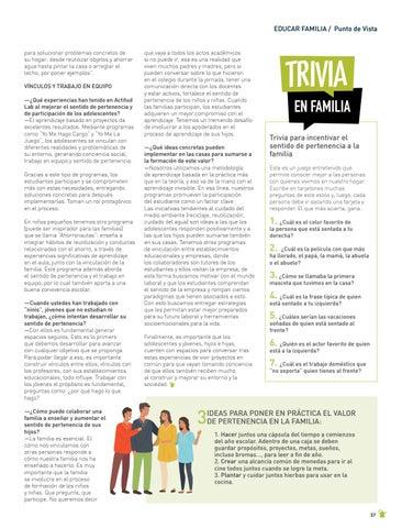 """Page 37 of EDUCAR FAMILIA: PUNTO DE VISTA El """"sentido de pertenencia"""