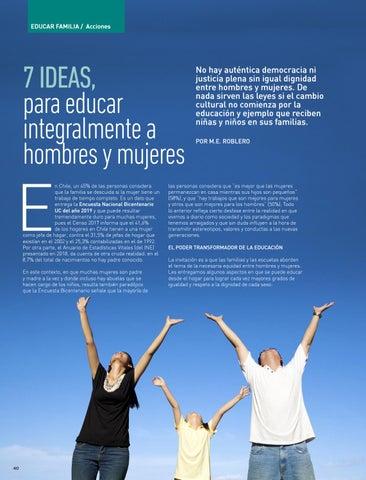 Page 40 of EDUCAR FAMILIA: ACCIONES 7 ideas para educar en la