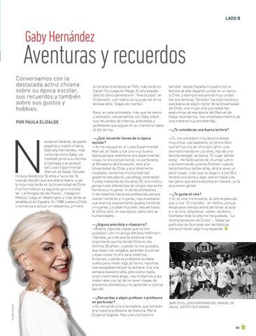 Page 43 of LADO B La reconocida actriz chilena Gaby Hernández nos