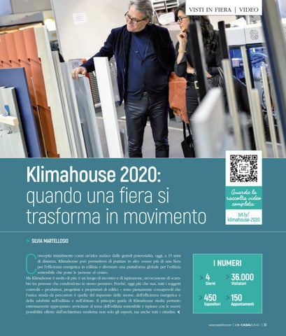 Page 37 of Klimahouse 2020: quando una fiera si trasforma in movimento