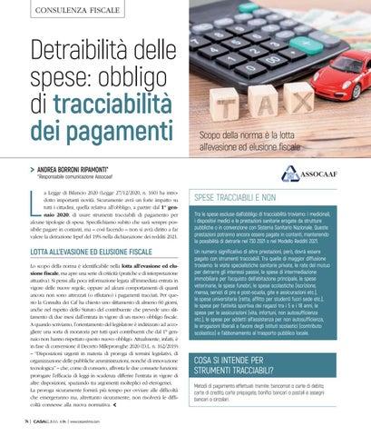 Page 78 of Detraibilità delle spese: obbligo di tracciabilità dei pagamenti