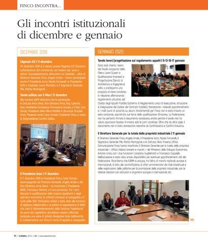 Page 80 of Gli incontri istituzionali tra dicembre e gennaio