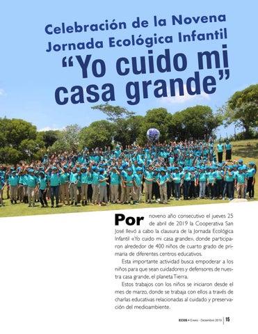 """Page 15 of Celebración de la Novena Jornada Ecológica Infantil """"Yo cuido mi casa grande"""