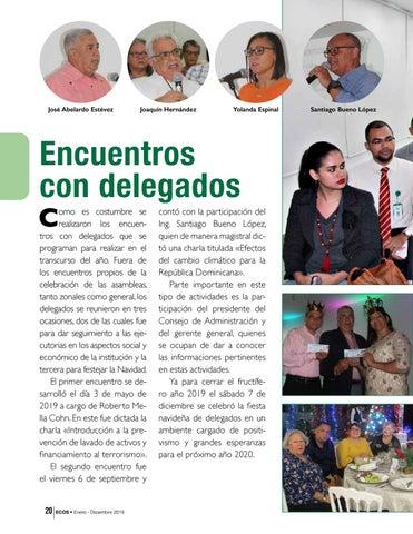Page 20 of Encuentros con delegados