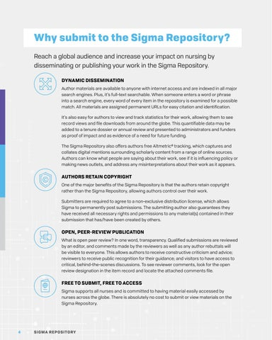 Page 4 of WHY SUBMIT TO THE SIGMA REPOSITORY?