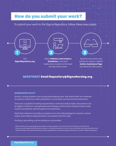 Page 7 of HOW DO YOU SUBMIT YOUR WORK?