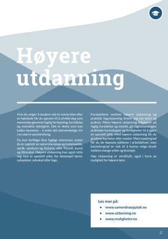 Page 21 of Høyere utdanning