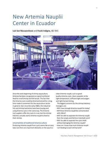 Page 9 of New Artemia Nauplii Center in Ecuador