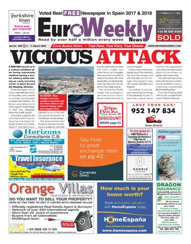 Euro Weekly News Costa Blanca North 5 11 March 2020 Issue 1809
