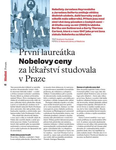 Page 14 of První laureátka Nobelovy ceny zalékařství studovala vPraze
