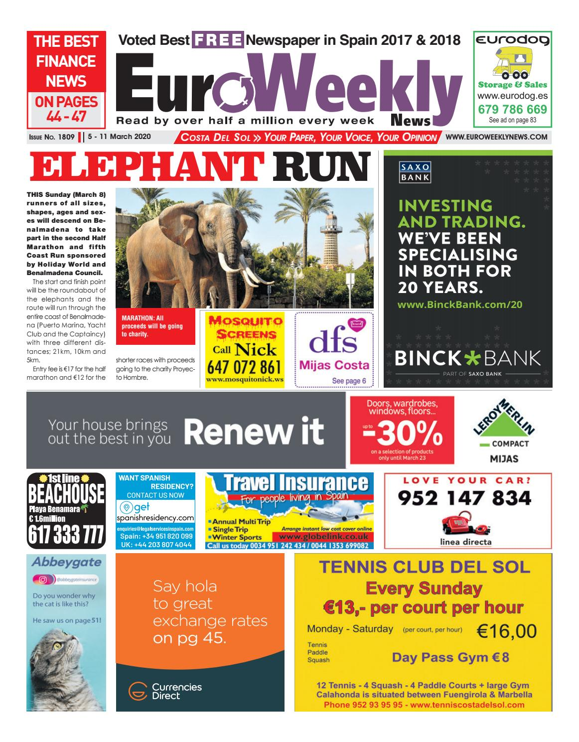 Euro Weekly News - Costa del Sol 5 - 11 March 2020 Issue 1809 by ...