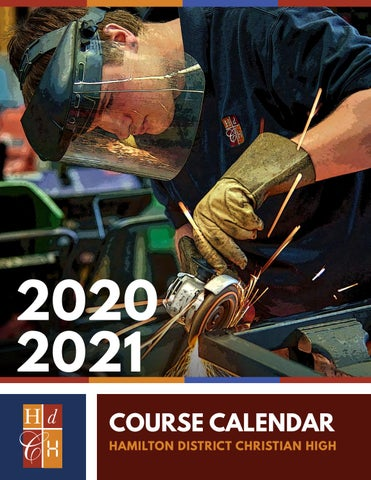 2020   2021 HDCH Course Calendar by Hamilton District Christian