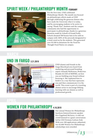 Page 13 of The Year in Alumni Events