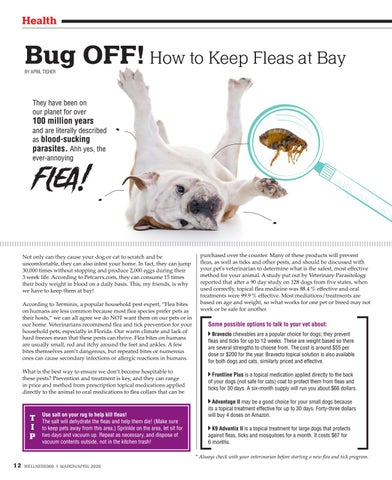 Page 12 of Bug OFF! How to Keep Fleas at Bay