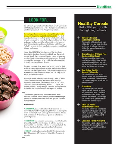 Page 33 of Breaking Down the Bowl: Choosing a Healthy Cereal