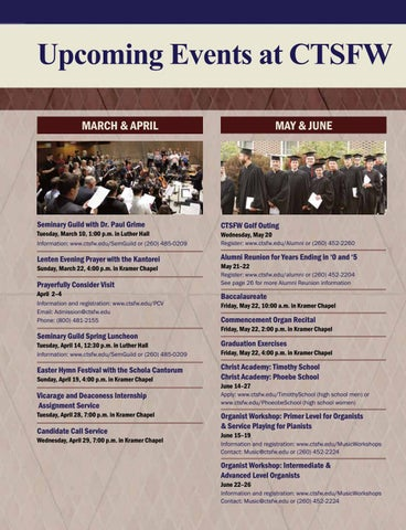 Page 16 of Upcoming Events at CTSFW
