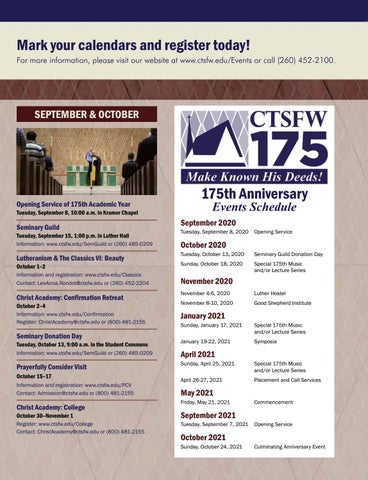 Page 17 of Upcoming Events at CTSFW