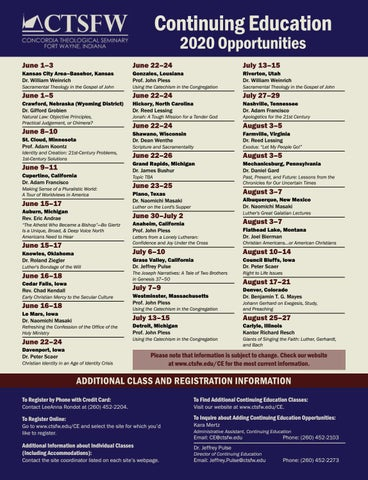 Page 21 of Continuing Education Opportunities