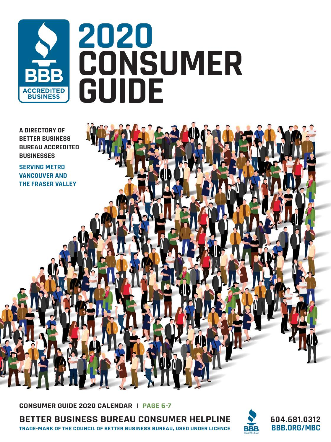 Better Business Bureau Consumer Guide 2020 By Business In