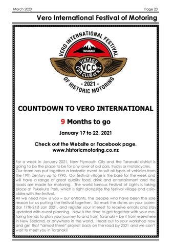 Page 23 of Vero International Festival of Motoring