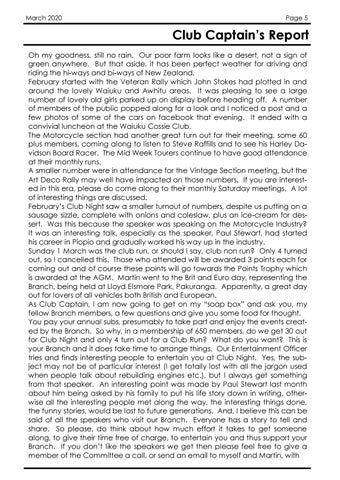 Page 5 of Chairman's Report