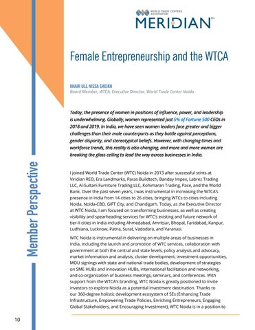 Page 10 of MEMBER PERSPECTIVE: Female Entrepreneurship and the WTCA