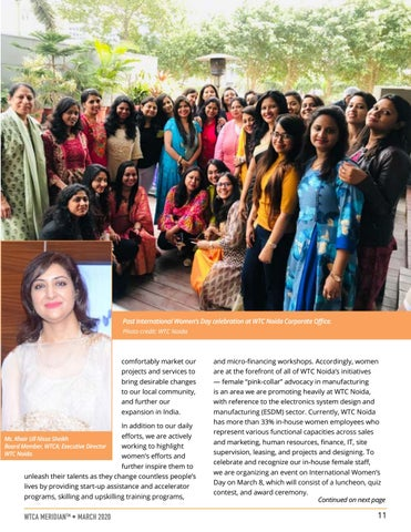 Page 11 of MEMBER PERSPECTIVE: Female Entrepreneurship and the WTCA