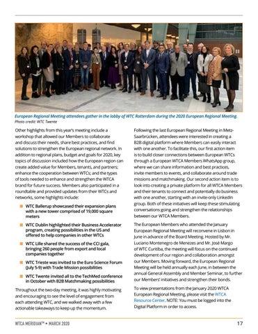 Page 17 of SPOTLIGHT: WTCA Regional Update: Recap of the 2020 European Regional Meeting
