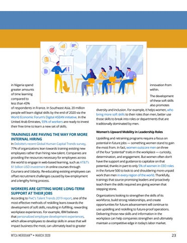 Page 23 of TRENDS: How Upskilling and Reskilling Programs Can Give Your Company a Competitive Edge