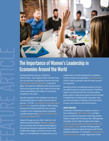 Page 6 of The Importance of Women's Leadership in Economies Around the World