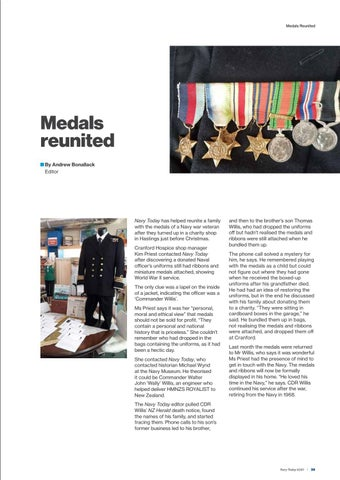 Page 35 of Mislaid medals returned