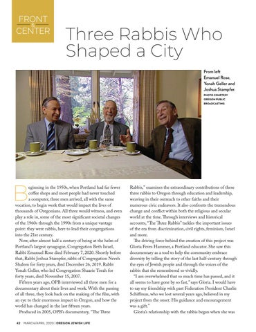 Page 42 of Three Rabbis who shaped a city