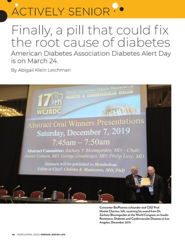 Page 46 of ACTIVELY SENIOR Finally, a pill that could fx the root cause of diabetes