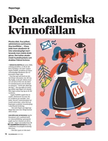 Page 18 of Akademiskt hushålls- arbete, något för kvinnor?
