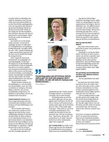Page 19 of Akademiskt hushålls- arbete, något för kvinnor?